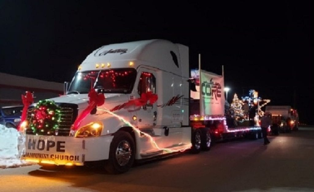 side Ivan Armstrong truck in Arthur Christmas parade