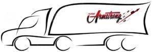 Ivan Armstrong trucking logo in truck