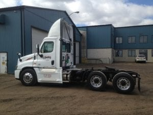 back side view Ivan Armstrong truck in yard