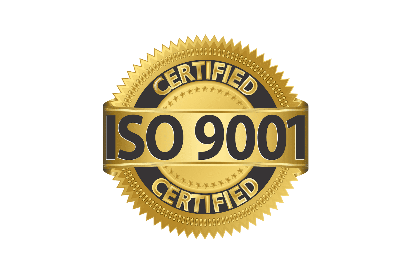 Certified ISO 9001 Gold Seal
