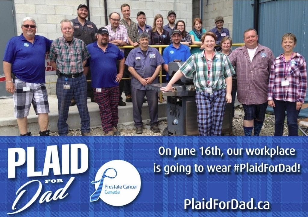 Ivan Armstrong Trucking employees wearing Plaid for Dad for Prostate Cancer